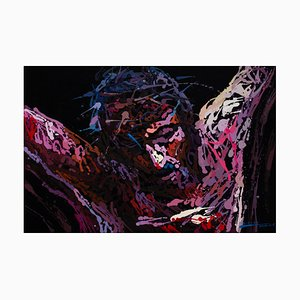 Zhao De-Wei, The Crucifixion of Jesus, 2014, olio su tela