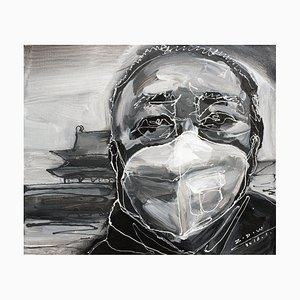 Zhao De-Wei, Character Series, Haze Days, 2016, Acrylic on Canvas