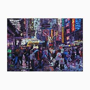 Zhao De-Wei, Urban Landscape Series, No Left Turn, 2019, Oil on Canvas