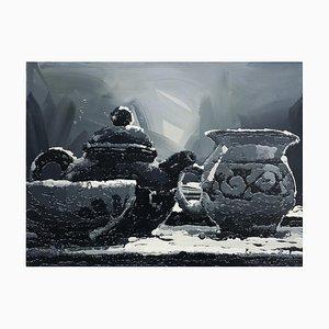 Zhao De-Wei, Still Life Series, Tea Fragrance, 2009, Öl auf Leinwand
