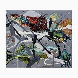 Zhao De-Wei, Fish Series, Fish, 2015, Öl auf Leinwand