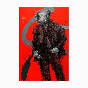 Zhao De-Wei, serie de personajes, Pig Man, 2017, óleo sobre lienzo