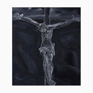 Zhao De-Wei, Thunder and Lightning, 2015, Olio su tela