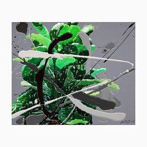 Zhao De-Wei, Plant Series, Green, 2021, Oil on Canvas