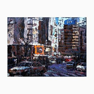 Zhao De-Wei, What Kind of City, 2015, Huile sur Toile