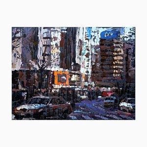 Zhao De-Wei, What Kind of City, 2015, Olio su tela