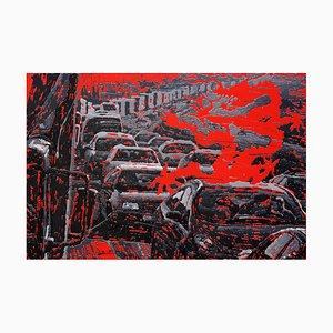 Zhao De-Wei, City Series, Dragon Culture, 2013, Huile sur Toile