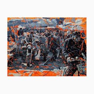 Zhao De-Wei, Urban Landscape Series, Farmers Market, 2010, Olio su tela