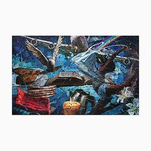 Zhao De-Wei, Fünf Kuchen und Zwei Fische, 2020, Öl auf Leinwand