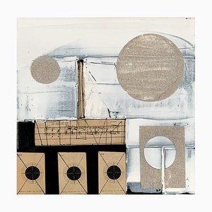 Lukasz Fruczek, Industrial 6, 2020, olio, acrilico e collage