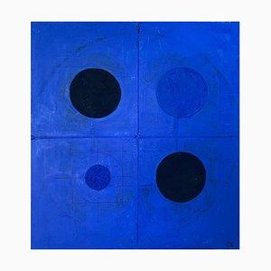 Lukasz Fruczek, Deep Blue 5, 2018, Acrilico su tela