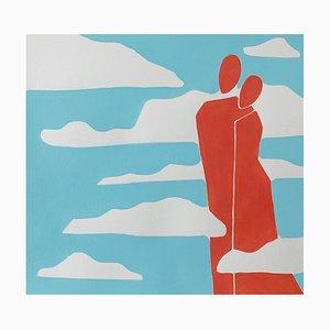 Waleria Matelska, In the Clouds, 2021, acrilico su carta