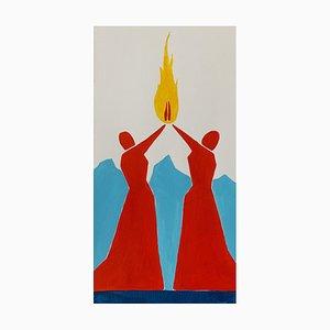 Waleria Matelska, Drei Grazien, 2021, Acryl auf Papier