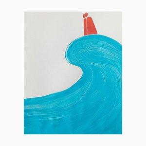 Waleria Matelska, on Wave, 2021, acrílico sobre papel