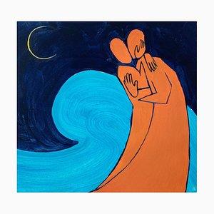 Waleria Matelska, Night Wave, 2021, Acrílico sobre papel
