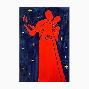 Waleria Matelska, Dancing in the Stars, 2021, Acrílico sobre papel