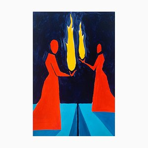 Waleria Matelska, Tamed Fire, 2021, Acrílico sobre papel