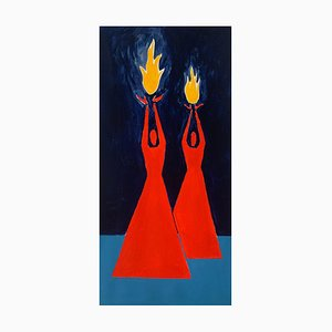 Waleria Matelska, Tamed Fire 2, 2021, Acrylic on Paper