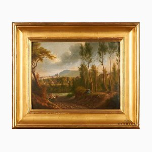 French School, 19th century, Oil on Wood, P.N. Faisan
