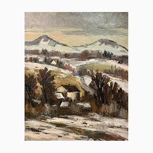 Ernest Voegeli, En hiver, 1937, Huile sur Toile