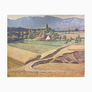 Clémence Lacroix, A travers champs, 1921, Huile sur Toile