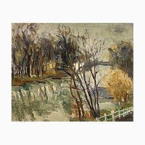 Louis-François Cabanes, Paysage d'automne, 1913, Huile sur Toile