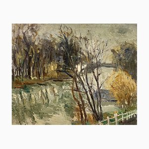 Louis-Francois Cabanes, Paysage d'automne, 1913, óleo sobre lienzo