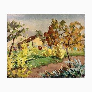 Alexis Louis Roche, Paysage d'automne, 1927, Huile sur Toile