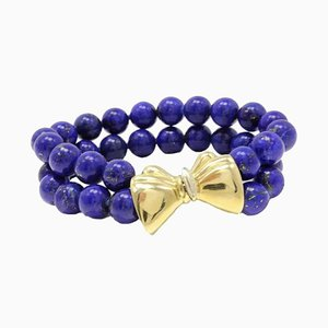 Pulsera Lapis Lazuli de oro de 18 Kt