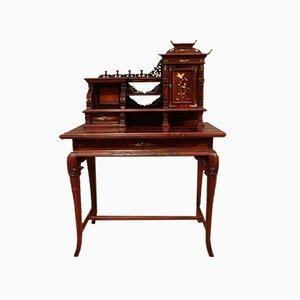 Chinoiserie Damen-Schreibtisch aus Palisander, 1890er