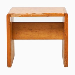 Pine Wood Les Arcs Stool by Le Corbusier & Charlotte Perriand