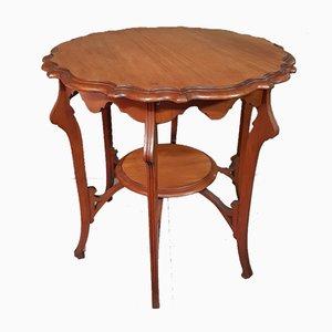 French Art Nouveau Mahogany Side Table, 1900s