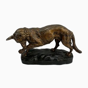 TF Cartier, Chien de Berger Allemand, Début du 20ème Siècle, Bronze