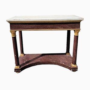 Consola estilo Imperio de madera de pórfido de imitación, siglo XIX