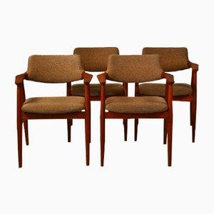 Teak GM11 Dining Chairs by Svend Åge Eriksen for Glostrup, Set of 4