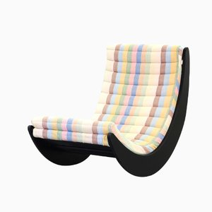 Multicolored Relaxer Rocking Chair by Verner Panton for Rosenthal