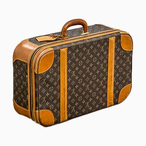 Monogrammed Canvas Suitcase with Zip and Rounded Edges from Louis Vuitton, 1960s