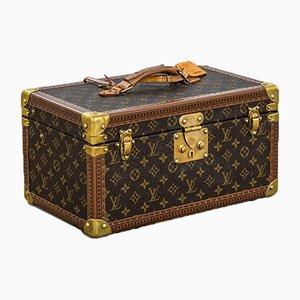 Neceser de lona con monograma y compartimentos internos para joyas de Louis Vuitton, años 80