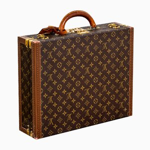 Monogrammed Canvas Briefcase with Internal Compartments for Documents from Louis Vuitton, 1980s