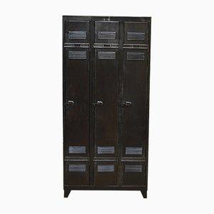 Industrial Metal 3-Door Cabinet, 1950s