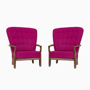 Mid-Century French Romeo Armchairs by Guillerme et Chambron, Set of 2