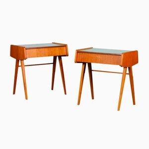 Vintage Nightstands in Wood and Formica by František Jirák, 1970s, Set of 2