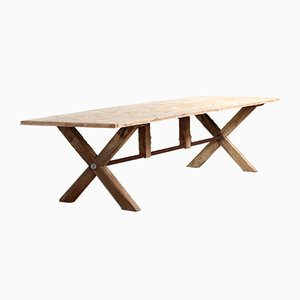 Reclaimed Crossframe Dining Table