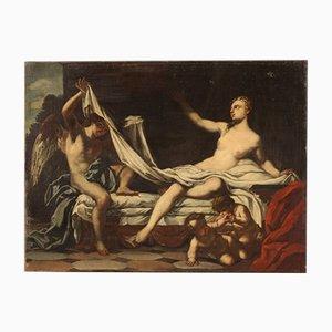 Danae, pintura mitológica italiana, siglo XVIII