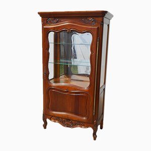 Louis XV Silverware Showcase Cabinet in Cherry