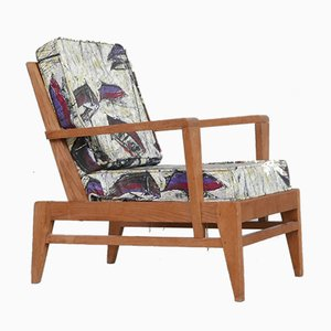 Mid-Century French Re-Construction Armchair by Rene Gabriel