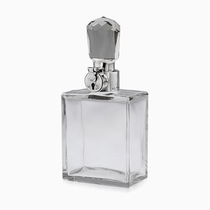 20th Century English Solid Silver & Glass Spirit Decanter from Tiffany & Co, 1927