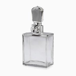 Englische Spiritus Karaffe aus massivem Silber & Glas von Tiffany & Co, 20. Jh., 1927