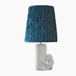 Ceramic Lamp with Lampshade from Vivai del Sud