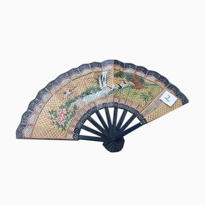 Fan in Straw and Painted Wood, 1940s